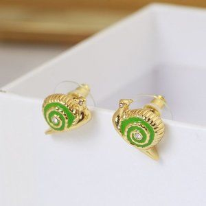 Kate Spade Green Small Snail Earrings